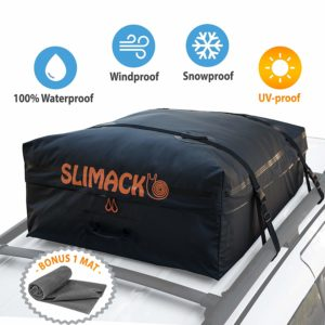 Slimack Rooftop Cargo Carrier Bag Waterproof Luggage Carrier for Cars Vans and SUVs Roof Top Storage Soft Cargo Bag Luggage Travel Bag with Protective Mat...