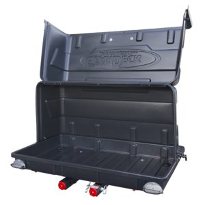 Let's Go Aero H00604 GearDeck Slide-Out Cargo Carrier with LED Tail Light Kit, 17 c.f. -Black