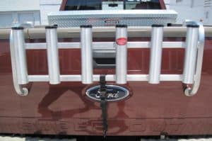 Over The Tailgate Aluminum Fishing Rod Holder (Mill Finish)