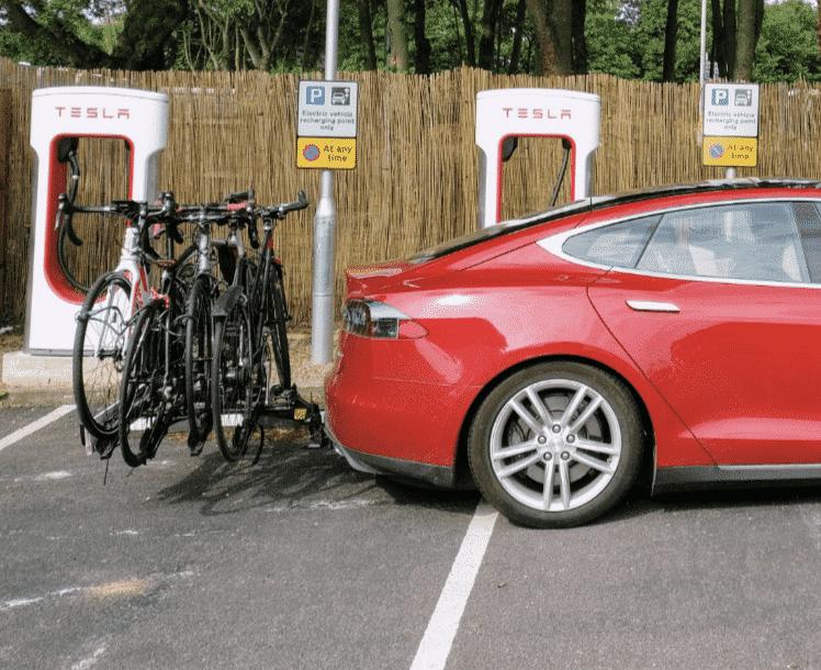 Tesla Model S bike rack