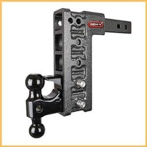 Gen-Y Adjustable 2-Ball Mount w/ Stacked Receivers