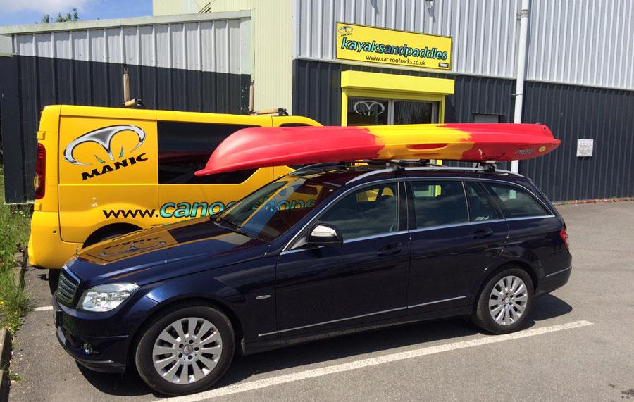 kayak be transported upside down